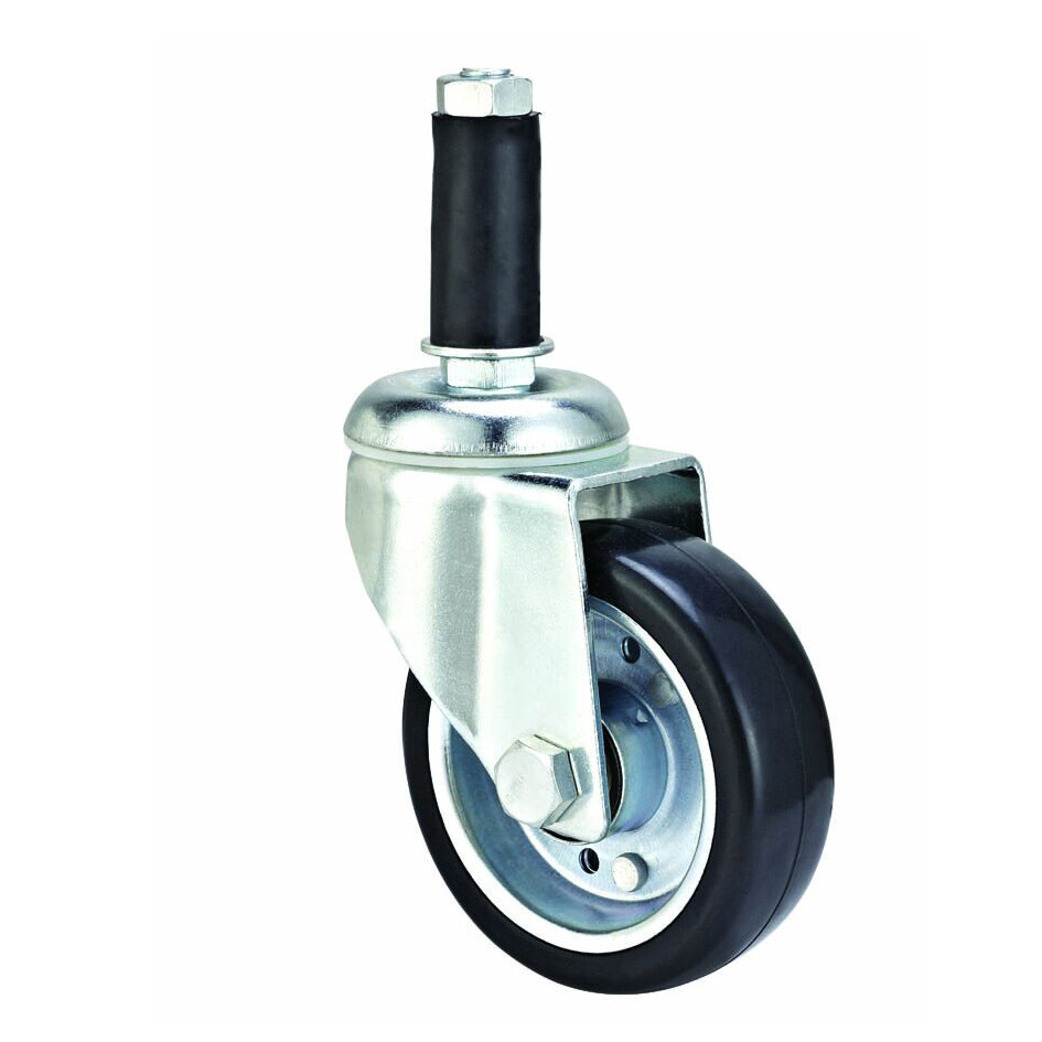 4''/ 5'' stem swivel ESD caster, black