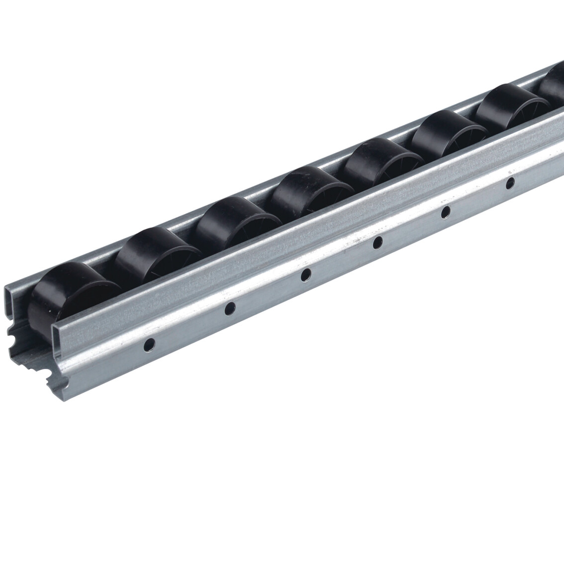 JY-2046 Galvanized Steel Roller Track with Black Wheel